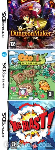 Ecolis, Dungeon Maker, XG Blast - Nintendo DS - box art